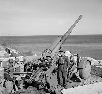 3.7 inch Anti-Aircraft Gun